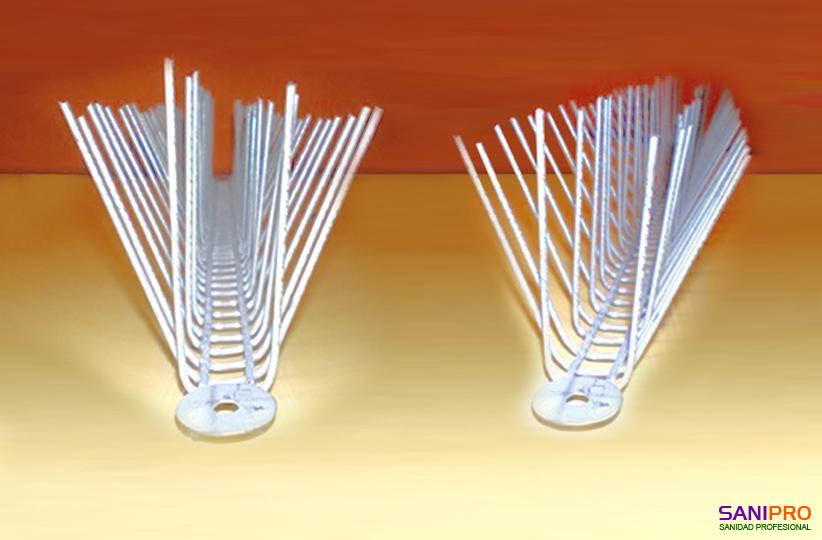 Pinchos Galvanizados para Control de Palomas